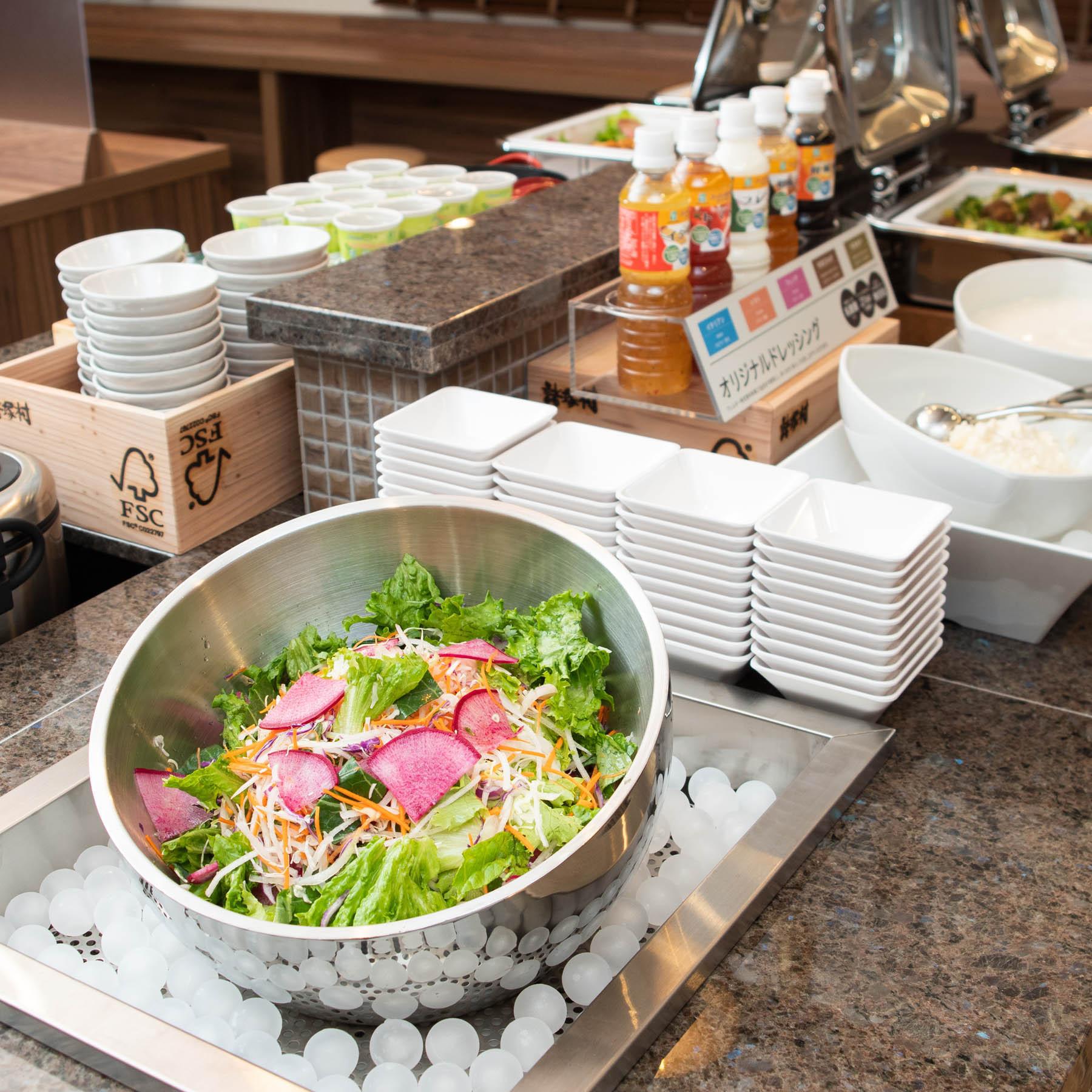 【Organic】有機JAS認定の新鮮なサラダ♪全体の1%に満たない稀少なサラダを毎朝ご提供♪