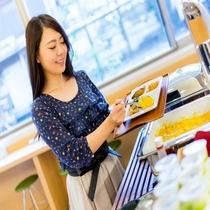 【健康朝食無料ビュッフェ】オーガニックな食材を日替わりメニューでご提供致します♪ ※イメージ