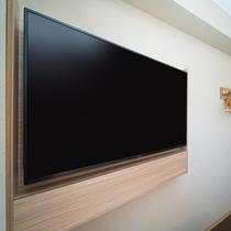 49型ワイド液晶TVを全室に完備!VODカード(1泊1,000円)で映画などもお楽しみ頂けます。