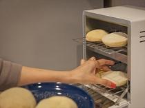 イングリッシュマフィンはトースターで焼くとますます美味しく。