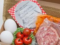 【沖縄厳選朝食素材セット/朝食付きプラン限定】お部屋の冷蔵庫にセットいたします。キッチンで簡単調理!