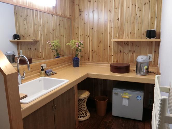 洗面スペースの一例(山紫庵)