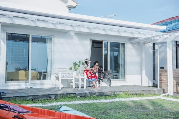 【お子様歓迎】ペットと一緒のお泊り!★屋根付きのウッドデッキで海を眺めながらBBQ&お鍋パーティ!★