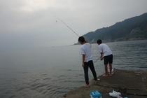 元名海岸堤防からの釣り