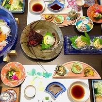 *夕食一例・伊勢エビ付コース/海の幸を堪能する豪華コースに大満足