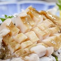 *夕食一例・アワビ付コース/踊り焼きかお刺身かお好みで選べます