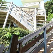 *無料貸切露天風呂/階段を登った先に絶景が待っています