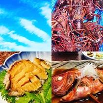 *夕食一例・4代目/駿河湾で獲れる新鮮で豊富な海の幸をお召し上がりください。