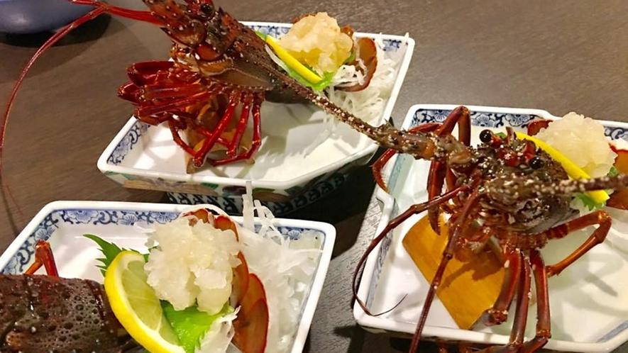 *夕食一例/自慢の海の幸は新鮮なままお膳へお出しします