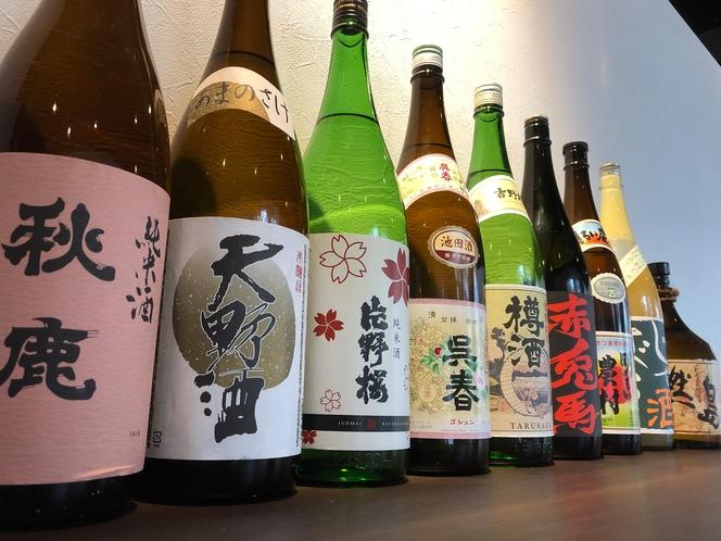 大阪の地酒など豊富なお酒