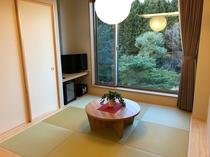 新館スイート和室 窓からは阿武隈川が望めます