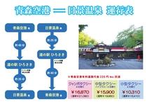 青森空港からの優待料金タクシー<要予約>