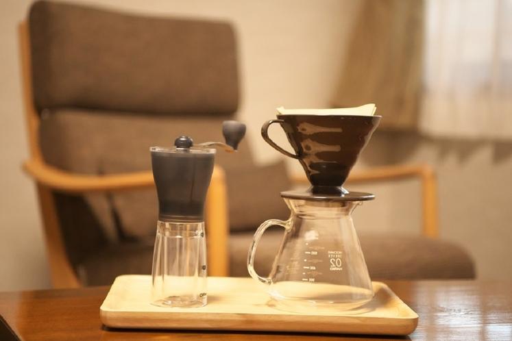 挽きたてのコーヒーをどうぞ