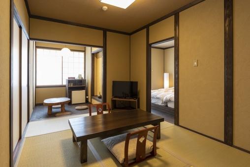 【椿】快適ベッドと居室でゆったり♪和モダンルーム(禁煙)