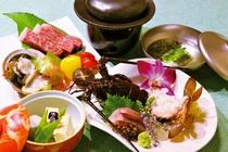 ★グレードアップ料理+8,800円★伊勢海老と熊野牛フィレ肉※料理はイメージ