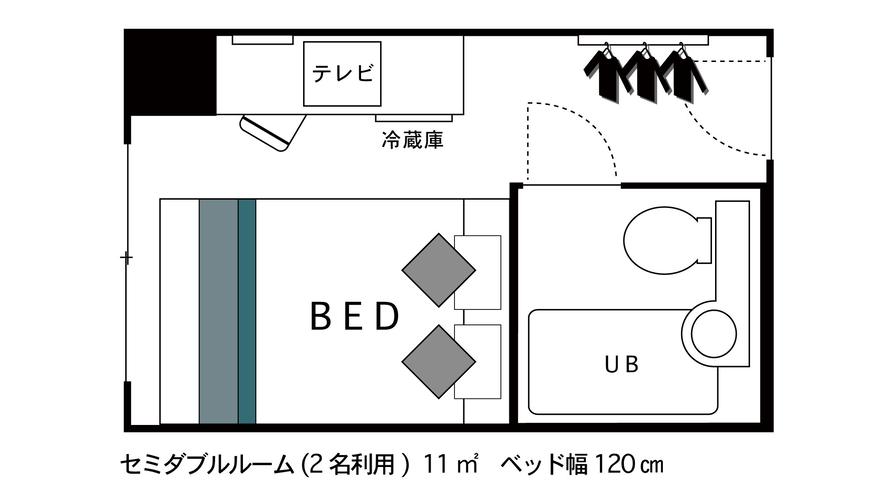 ◇セミダブルルーム◇ 間取り図