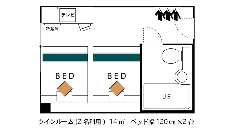 ◇ツインルーム◇ 間取り図