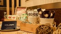 【フリードリンク】お部屋で楽しめるドリンクをご準備しております♪(紅茶、コーヒー、コンソメスープ)】