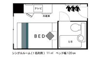 ◇シングルルーム◇ 間取り図