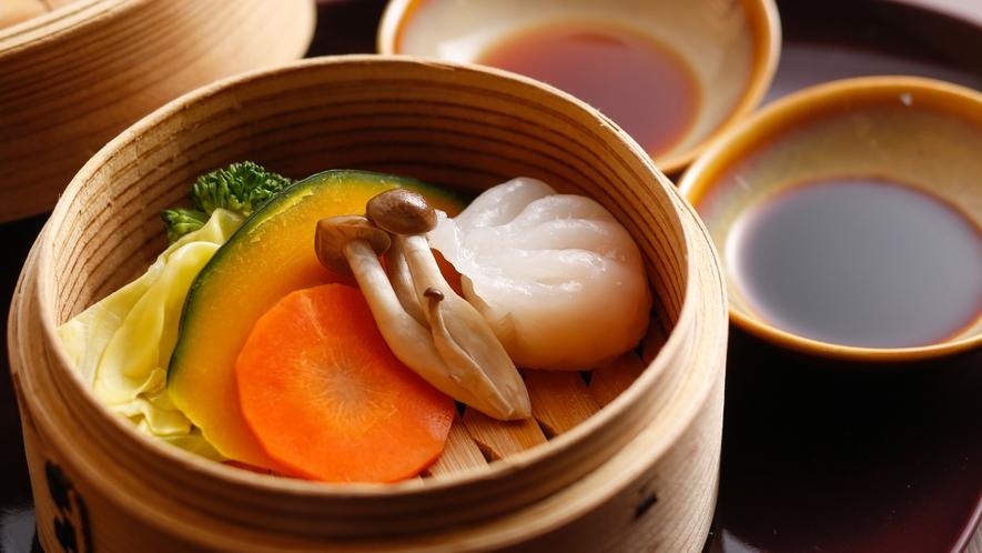 【朝食ブッフェ+セレクトメニュー】点心と地野菜のセイロ蒸し(対象のお客様専用です)