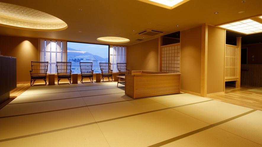 【津山温泉・城見SPA】湯上りラウンジ(一例)