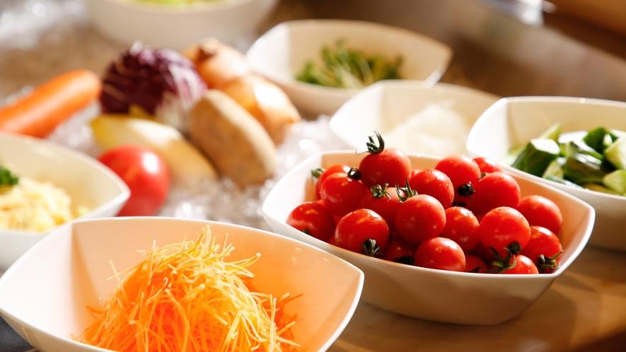 【朝食ブッフェ】サラダコーナー(イメージ)