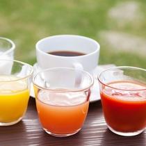 【ご朝食】フレッシュなドリンク類