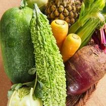 沖縄の元気な島野菜たち、キッチン付きなのでうちなー料理にチャレンジ!