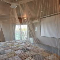 【3F】ベッドで楽な体制でホームシアターが楽しめます