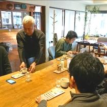 館内にカフェをOPEN☆豆は人気老舗珈琲店のミカド珈琲のコーヒー豆を使用