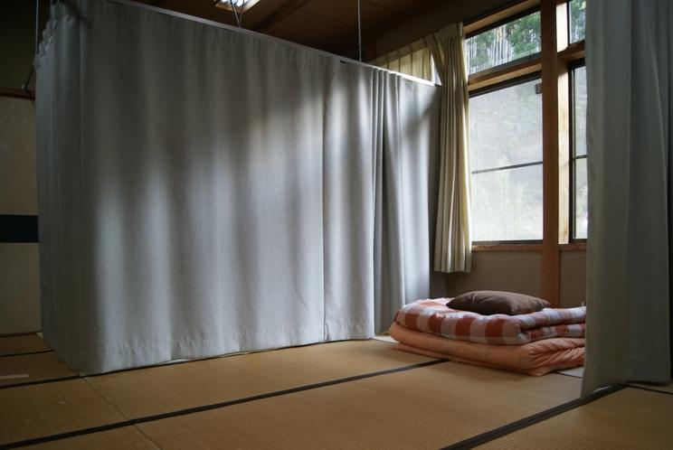 簡易個室(男女共有相部屋)