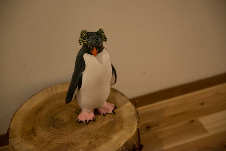 館内にはペンギンがあちらこちらに。探してみてね。