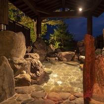 【貸切露天風呂】亀岩の湯
