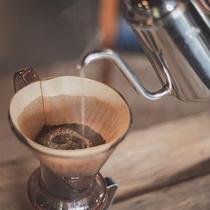 ハンドドリップのコーヒー