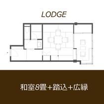 【和室8畳】平面図