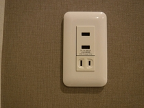 electrical outlet コンセント USBpanel
