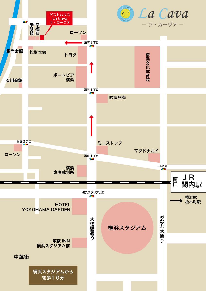 横浜スタジアムより徒歩10分