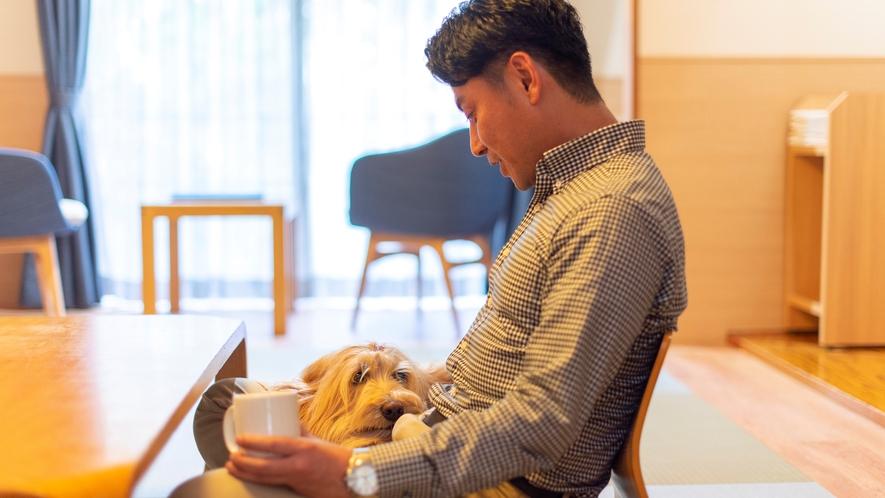 愛犬と一緒にお部屋で贅沢なひとときを