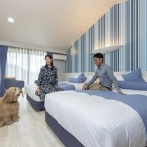 豊富な客室タイプ&全室愛犬OK!