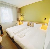【ツインルーム】シングルベッド(200cm×100cm)×2台