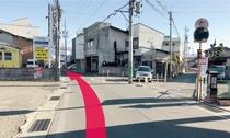 【長野駅からのルート11】道なりに進みます。