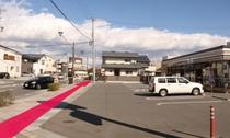 【長野駅からのルート8】そのまま直進します。