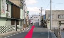 【長野駅からのルート10】道なりに進みます。
