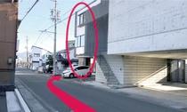 【長野駅からのルート12】右側にSA inn NAGANO NANASE が見えて きます。