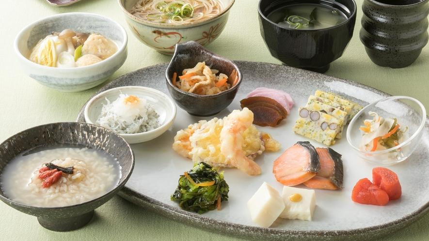 <朝食>奈良ならではの和食メニューを豊富にご用意