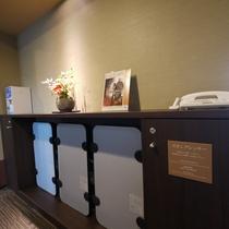 <貸し出し品>ズボンプレッサー 客室フロアー各階廊下に設置しています。