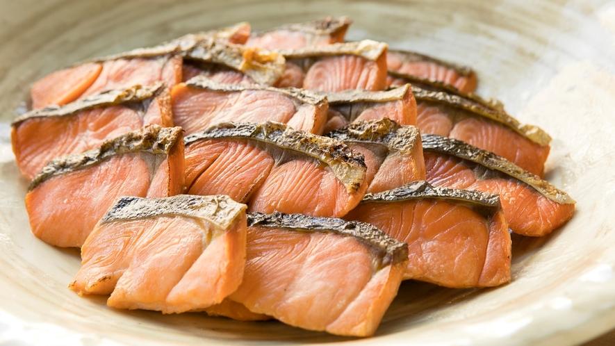 <朝食>焼き魚(鮭塩焼き)