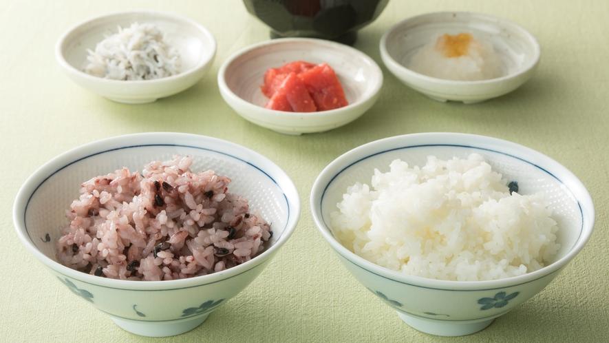 <朝食>奈良県産ヒノヒカリ・古代米