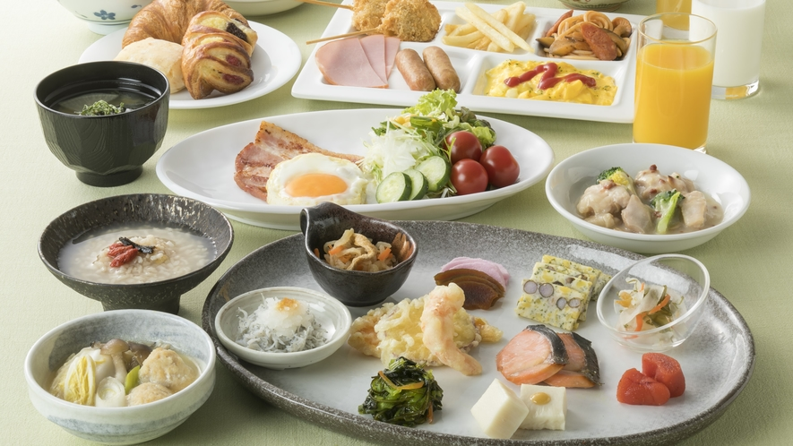 <朝食>奈良ならではの和食メニューを豊富にご用意。