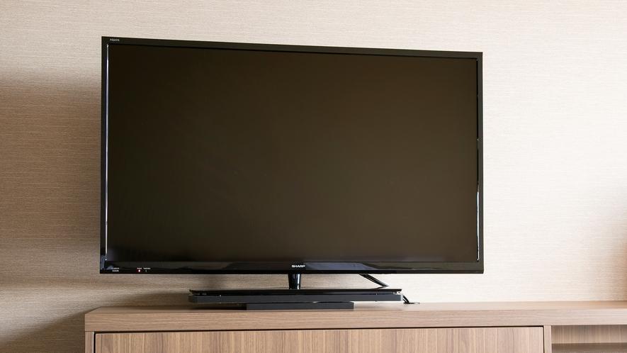 <客室設備>液晶テレビ 衛星放送・WOWOW無料視聴可能です。